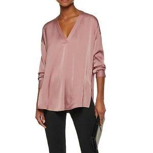 Vince Crossover V-Neck Silk Blouse Size 2